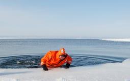 海洋救援活动 免版税库存照片