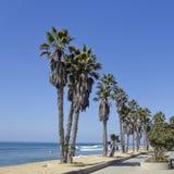 海滩散步,维特纳,加州 免版税库存照片