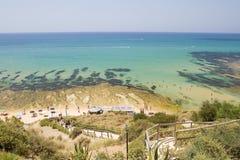 海滩斯卡拉dei Turchi 免版税库存图片