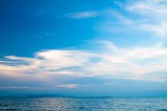 海洋日落。 免版税库存图片
