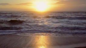 海洋日落场面,充分的HD, 30fps 股票视频