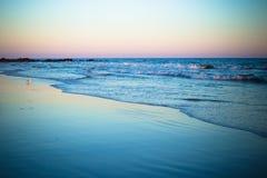 海滩日落长岛 库存图片