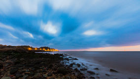 海滩早晨在珠海 免版税库存图片