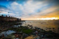 海滩早晨在珠海 库存图片