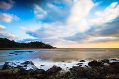 海滩早晨在珠海 库存照片