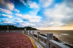 海滩早晨在珠海 免版税图库摄影