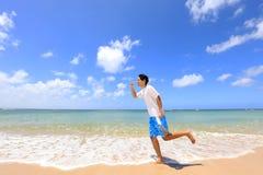 海滩明亮的有色种人空白年轻人 库存图片