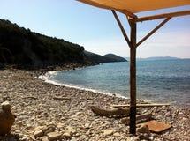 海滩是闭合的 免版税图库摄影