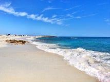 海滩是Arutas在撒丁岛 免版税库存照片