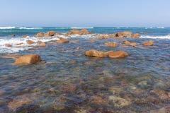海洋晃动天际风景 免版税库存照片