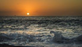 海滩普埃尔托巴利亚塔在2月 免版税库存图片