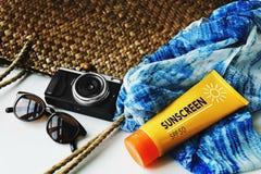 海滩暑假假期旅途探险概念 库存图片