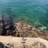海滩暑假在诺曼底 免版税库存照片