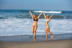 海滩朋友 库存图片