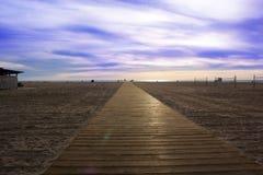 海滩木板走道 圣塔蒙尼卡海滩洛杉矶加利福尼亚美国 库存照片
