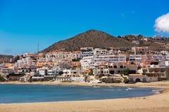 海滨村庄在安大路西亚在海边, Cabo de加塔角,西班牙 图库摄影