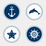 海洋标志 船舶设计元素 库存图片