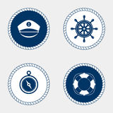 海洋标志 船舶设计元素 免版税库存照片