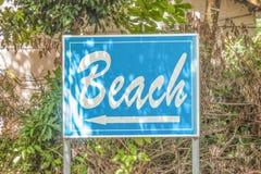 海滩标志 库存照片