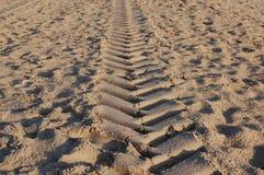 海滩标记 免版税库存图片