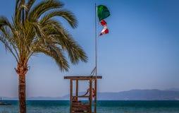 海滩样式在马略卡 库存照片