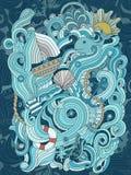 海洋样式 免版税库存图片