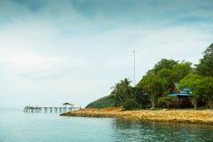 海滩桥梁 免版税库存图片