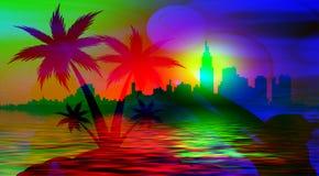 海滩棕榈 库存照片