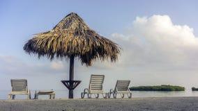 海滩概念节假日伞 图库摄影