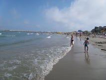 海滩概要 图库摄影
