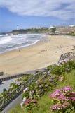 海滩比亚利兹在法国 免版税库存照片