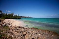 海滩毛里求斯 免版税库存照片