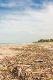 海滩污染 库存照片