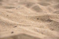 海滩沙子特写镜头 库存照片