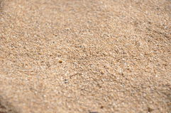 海滩沙子特写镜头 免版税库存图片
