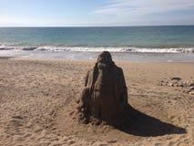 海滩沙子雕塑 免版税库存图片