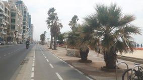 海滩沿海岸区木板走道 库存照片