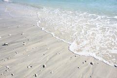 海滩波浪和岩石 库存照片
