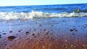 海滩波浪 免版税库存照片