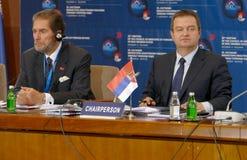 黑海经济合作会员国的组织的外交事务大臣会议的会议  库存照片