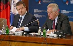 黑海经济合作会员国的组织的外交事务大臣会议的会议  免版税库存图片