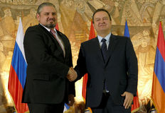 黑海经济合作会员国的组织的外交事务大臣会议的第35次会议  库存照片