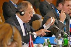 黑海经济合作会员国的组织的外交事务大臣会议的第35次会议  免版税库存图片