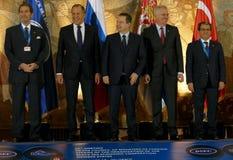 黑海经济合作会员国的组织的外交事务大臣会议的第35次会议  库存图片