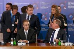黑海经济合作成员Stat的组织的外交事务大臣会议的第35次会议  库存图片