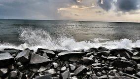 海洋浪花 库存照片