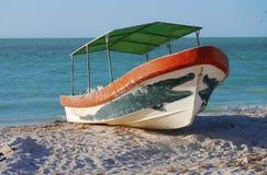 海洋海全景墨西哥fisherboot 库存图片
