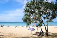 海滩海岛普吉岛surin泰国 免版税库存图片