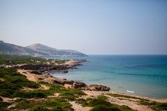 海滩海岸日通配海运的夏天 免版税库存图片