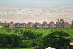 海洋海岸的地亚哥苏亚雷斯(安齐拉纳纳),马达加斯加解决 免版税库存照片